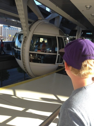 Waiting to board the High Roller