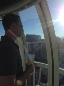 Taking in the sights from the High Roller